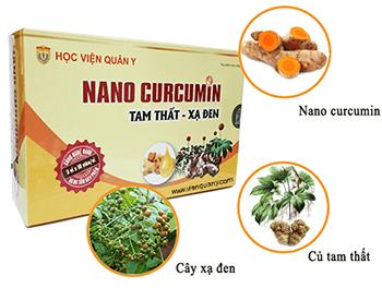 thành phần và công dụng Nano Curcumin tam thất xạ đen PLUS
