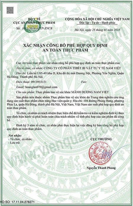Mãnh Dương Nam Việt Giúp Tăng Cường Sinh Lý Nam